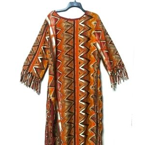 Quirky vintage Bohemian African / Southwest dress